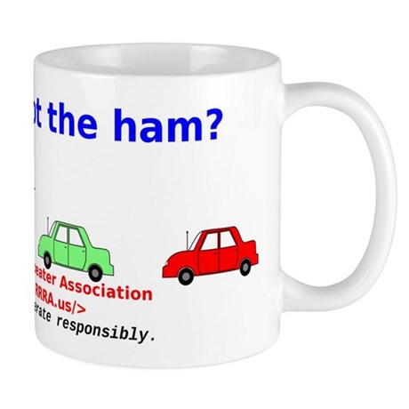 Can you spot the ham? Mug