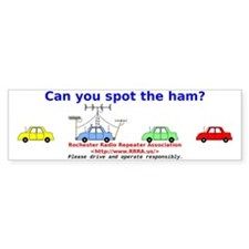 Can you spot the ham? Bumper Sticker