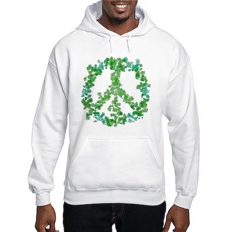 Snowflake Flower Peace Hooded Sweatshirt