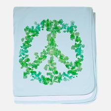 Snowflake Flower Peace baby blanket