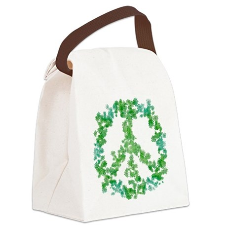 Snowflake Flower Peace Canvas Lunch Bag
