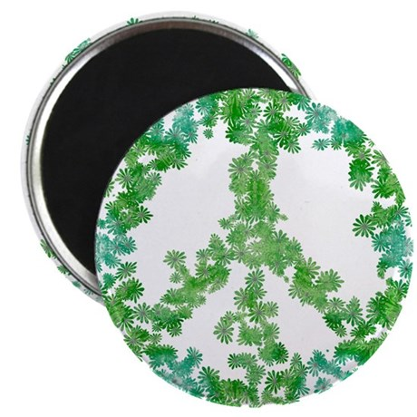 "Snowflake Flower Peace 2.25"" Magnet (10 pack)"
