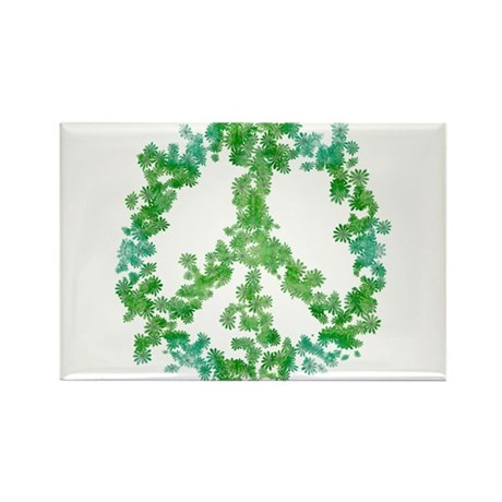 Snowflake Flower Peace Rectangle Magnet