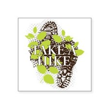 "Take a Hike Square Sticker 3"" x 3"""