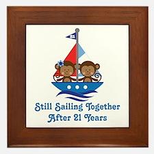 21st Anniversary Sailing Framed Tile