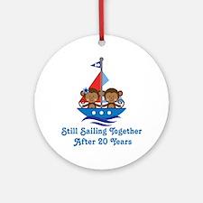 20th Anniversary Sailing Ornament (Round)