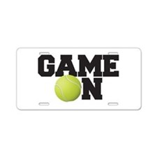 Game On Tennis Aluminum License Plate