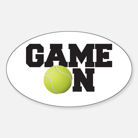 Game On Tennis Sticker (Oval)