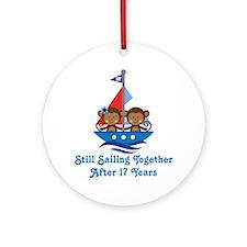 17th Anniversary Sailing Ornament (Round)