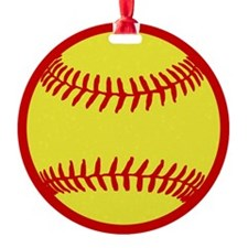 Softball Red Ornament