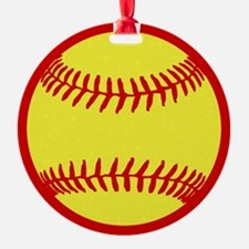 Softball Red Ornament