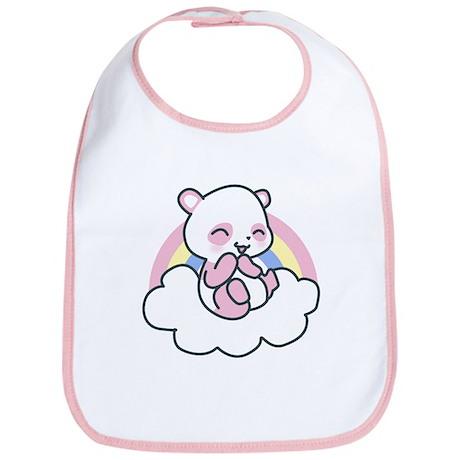 Pink Happy Panda Bib