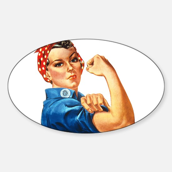 Rosie the Riveter Sticker (Oval)