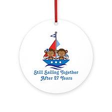 27th Anniversary Sailing Ornament (Round)