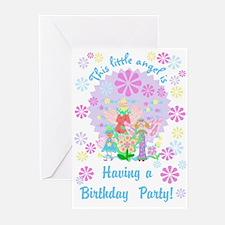 Little Angel Birthday Invitations