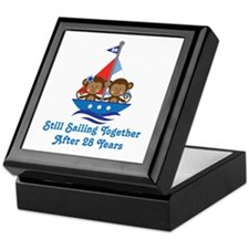 28th Anniversary Sailing Keepsake Box