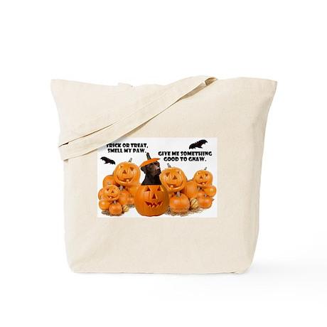 Trick Or Treat Chocolate Lab Tote Bag