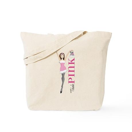 Think Pink Girl Tote Bag