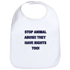 Stop Animal Abuse Bib