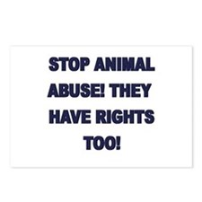 Stop Animal Abuse Postcards (Package of 8)