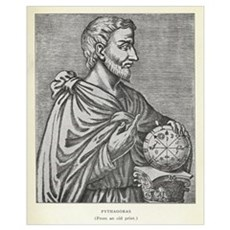 Pythagoras, Ancient Greek mathematician Framed Print