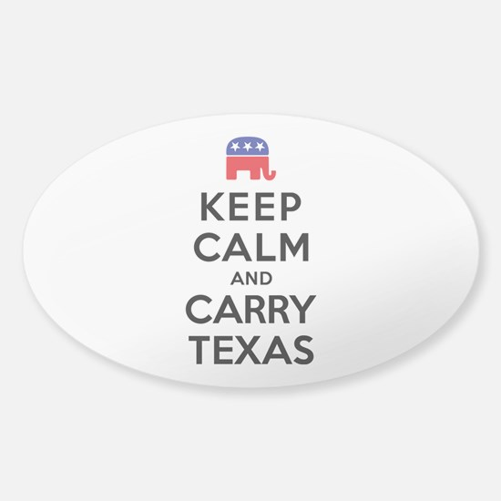 Keep Calm and Carry Texas Republican Decal