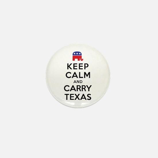 Keep Calm and Carry Texas Republican Mini Button