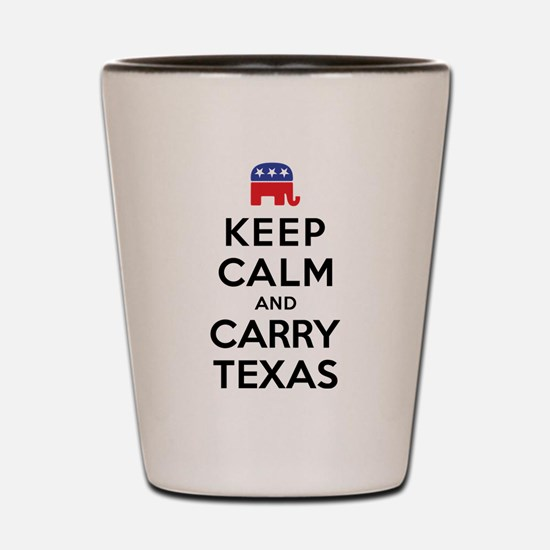 Keep Calm and Carry Texas Republican Shot Glass