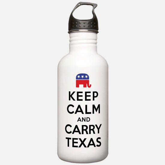 Keep Calm and Carry Texas Republican Water Bottle