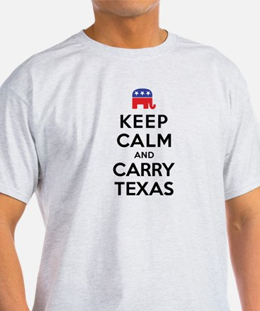 Keep Calm and Carry Texas Republican T-Shirt