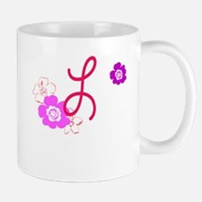 L Flowers Mug