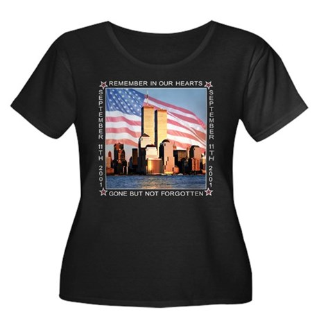 9-11 Women's Plus Size Scoop Neck Dark T-Shirt