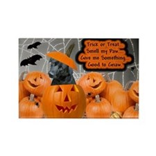 Black Lab Halloween Rectangle Magnet