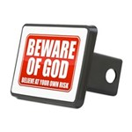 Beware Of God Rectangular Hitch Cover