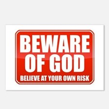 Beware Of God Postcards (Package of 8)