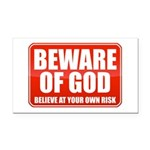 Beware Of God Rectangle Car Magnet