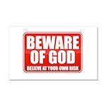 Beware Of God Car Magnet 20 x 12