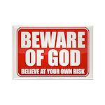 Beware Of God Rectangle Magnet (100 pack)