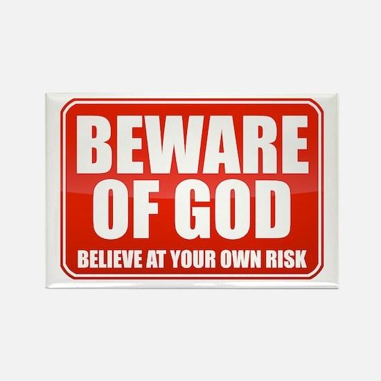 Beware Of God Rectangle Magnet
