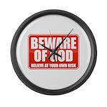 Beware Of God Large Wall Clock