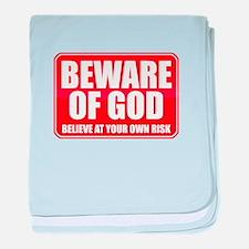 Beware Of God baby blanket