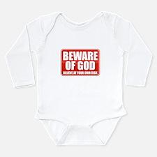 Beware Of God Long Sleeve Infant Bodysuit