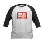 Beware Of God Kids Baseball Jersey