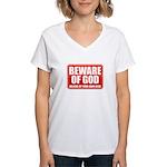 Beware Of God Women's V-Neck T-Shirt