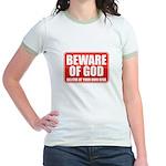 Beware Of God Jr. Ringer T-Shirt