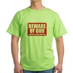 Beware Of God Green T-Shirt