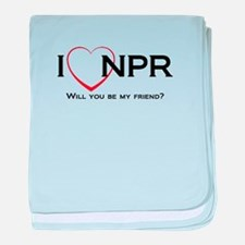 I Love NPR baby blanket