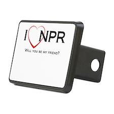 I Love NPR Hitch Cover