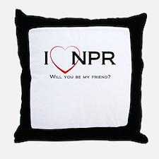 I Love NPR Throw Pillow