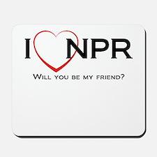 I Love NPR Mousepad